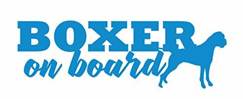 Boxer On Board Vinyl Decal Car Truck Window Glass Laptop (7.5, Light Blue) (Best Light Heavyweight Boxers)