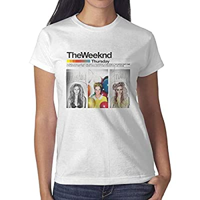 Womens The-Weeknd-XO-with-Heart- Short Sleeved Cotton Tee Shirts
