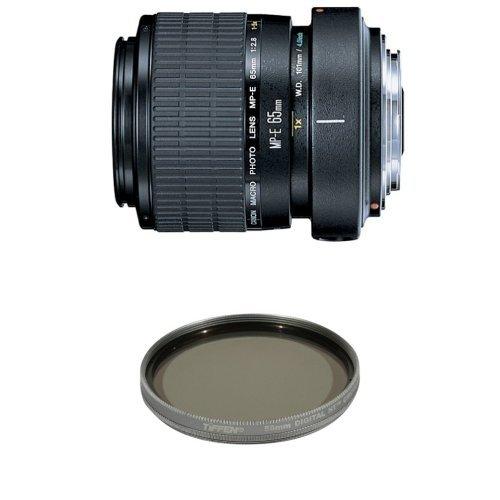 (Canon MP-E 65mm f/2.8 1-5X Macro Lens for Canon SLR Cameras w/ Tiffen Polarizer Filter)