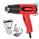 Heat Gun Variable Temperature, Amtake HG6618 Hot Air Gun 120°F - 1020°F with Four Nozzle Attachments for Heat Shrink Tubing, Shrink Wrapping, Removing Paint, 1800W