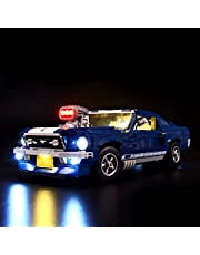 BRIKSMAX Led Lighting Kit for Ford Mustang-Compatible with Lego 10265 - Not Include The Lego Set