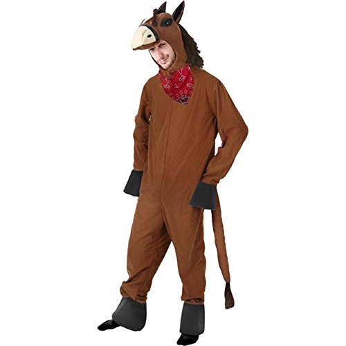 [Adult Horse Halloween Costume (Size: X-Large 44-46)] (Horse For Sale Costume)
