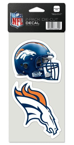 Denver Broncos Set of 2 Die Cut - Mall In Stores Denver