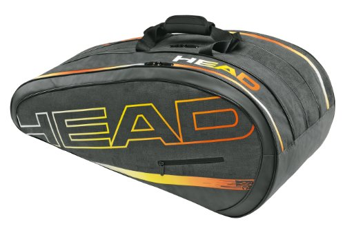 HEAD Tennistasche Radical Monstercombi, Grau/Orange/Gelb, 76 x 40 x 33 cm, 283254