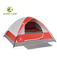 ALPHA CAMP 4 Person Camping Tent with Mud Mat - Dome...