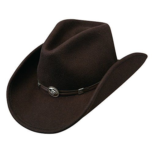 Stetson Men's Hollywood Drive Crushable Wool Cowboy Hat Brown Medium