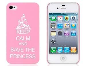 Guarde la caja Pattern Princess protectora para iPhone 4/4S (Rosa)