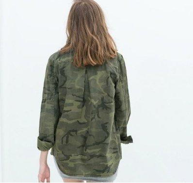 1a8fdcd790a Amazon.com   Jacket Women Military Camouflage Blouse Coat Casual Fashion  Jaqueta Feminina Chaquetas Mujer Size M   Everything Else