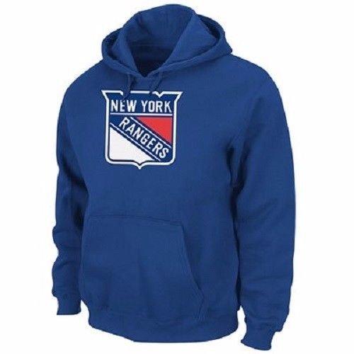 Majestic NHL Kinder Youth Hoody New York NY Rangers Kaputzenpullover Hooded Sweater (8-10) S (128/134)