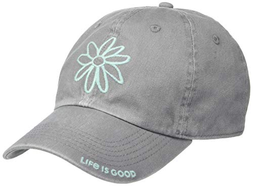 Life is Good Chill Cap Baseball Hat Collection,Daisy,Slate Gray from Life is Good