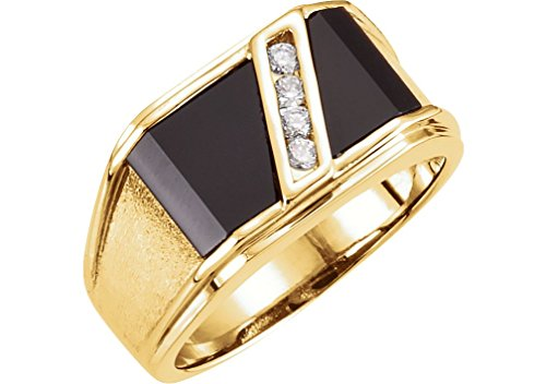 Diamond 14ky Mens Ring - 9