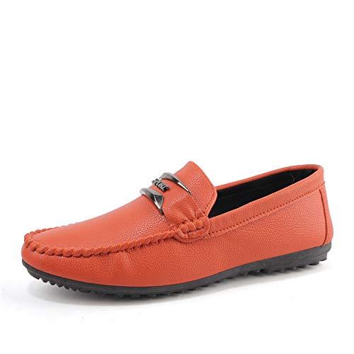 Cuero Persona Ocio De Casual Zapatos Hombres Holgazán Suela Semi El Barco Iwgr Mocasines Conduce Hombre Transpirable Orange Suave Perezosa Que Formales wxfXOnqPY