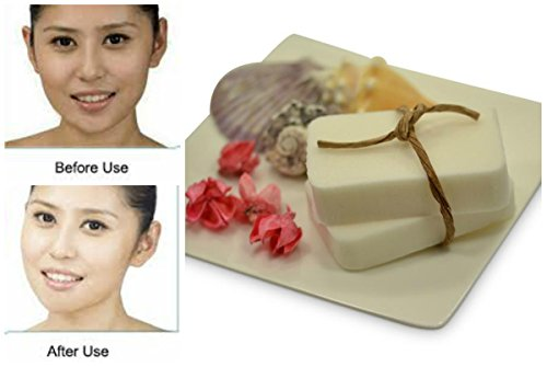 Geisha San-Glutathione & Kojic Acid Whitening Bleaching-Natural-Skin Lightening Soap-Highly Effective For Scar Removal- Anti-aging,Tea Tree Oil,Rosehip,Vitamin B3,Goat Milk,Lavender(2 ()