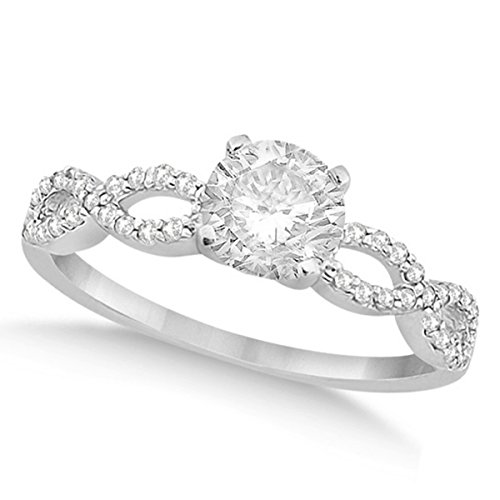 Women's Preset Twisted Infinity Diamond Engagement Ring 18k White Gold (1.00ct) ()