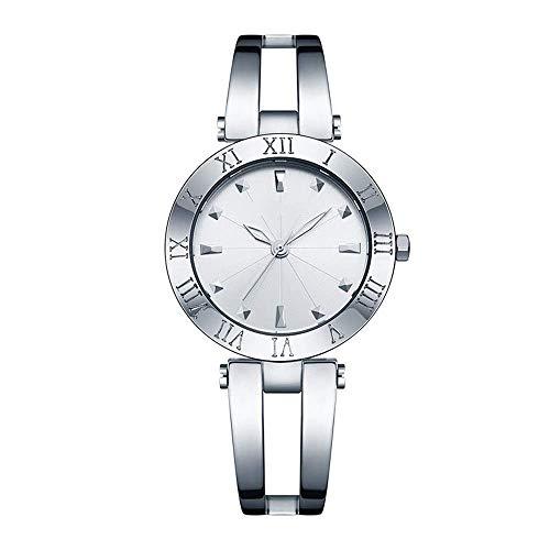 BEWITCHYU Practical Wristwatches Women 's Simple Hollow Ultra-Thin 8Mm Quartz Watch 35Mm Solid Steel Belt Casual Fashion Waterproof Decorative Watch BraceletSilver