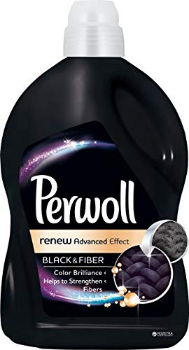 Perwoll Black & Fiber Renew Advanced Effect Liquid Laundry Detergent (2.7 Liters, 45 Loads) (Best Detergent For Black Clothes)