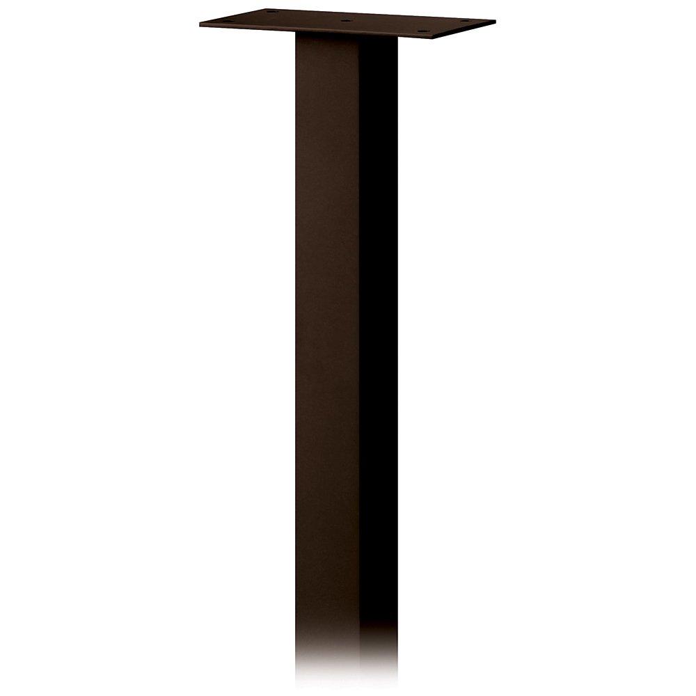 Salsbury Industries 4385D-BRZ Standard Pedestal in Ground Mounted for Designer Roadside Mailbox, Bronze