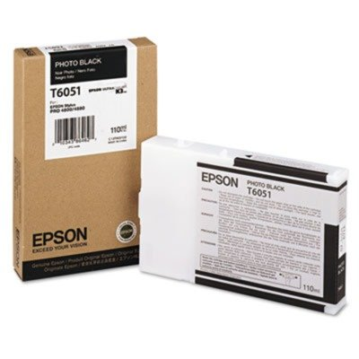 Epson T605100 UltraChrome K3 110ml Photo Black Cartridge (T605100)