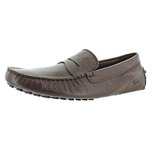 Lacoste Men's Concours Shoes,Brw/Black leather,12.5 Medium US (For Moccasins Lacoste Men)