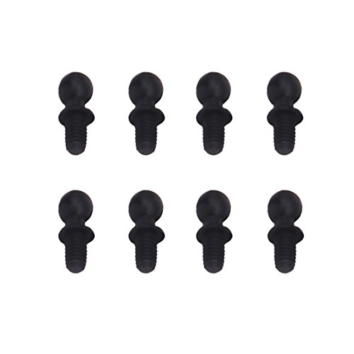HobbyCrawler Ball Studs Pivots Head Screws Fastener Bolt 10mm for 1/18 Wltoys A959 A969 A979 K929 RC Hobby Model Car 8-Pack A580041 ()