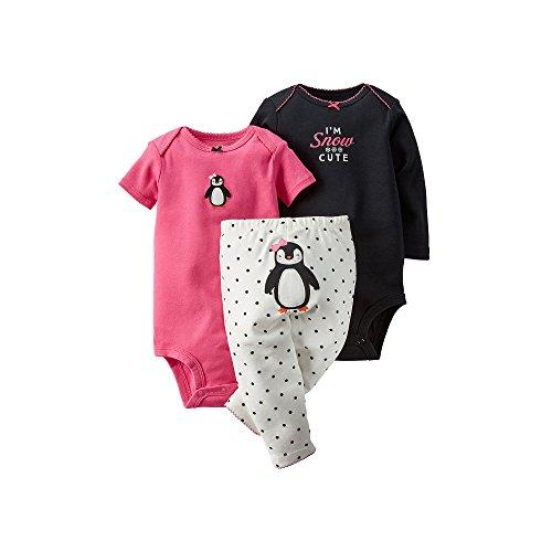 Carter's Baby Girls' 3-Piece Turn-Me-Around Pant Set - Penguin Dot - 24 ()