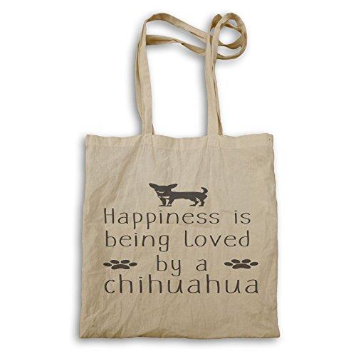 INNOGLEN La felicidad es amada por chihuahua bolso de mano w117r