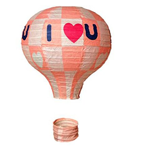 Goddness Bar Birthday Party/Christmas/Easter/Mall Decoration Hanging Paper Lantern Hot Air Balloon(Pink) ()