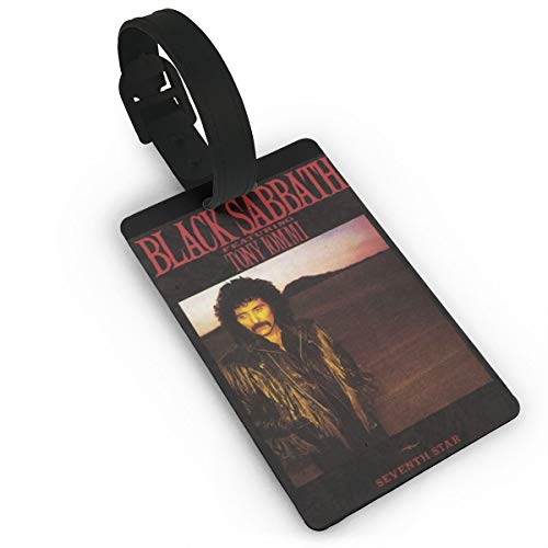 TXFASHIONshop Luggage Tags,ID Labels,Black Sabbath Seventh Star 1986Travel Tags, Name Card Holder For Baggage Bags Suitcases Backpacks ()