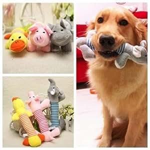Amazon.com : Funny Dog Puppy Sound Chew Toys Plush Pet