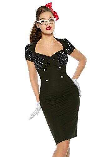 Up Atixo Vintage Kleid im schwarz Stil Pin FOf6qIOa