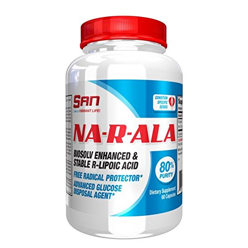 SAN Nutrition NA-R-ALA R-Lipoic Acid Glucose Disposal Agent & Nutrient Partitioning Supplement, 60 Count by San Nutrition