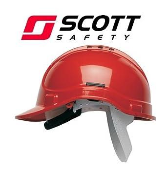 Scott Protector Style 300 casco de seguridad con ventilación - rojo