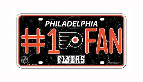 NHL Philadelphia Flyers #1 Fan Metal License Plate Tag