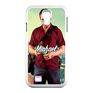 Grand Theft Auto V GTA Rockstar Samsung Galaxy S4 9500 Cell Phone Case White Special Tribute p6xr_3478606