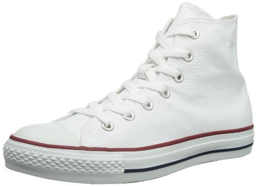 Converse All Star Hi Optical White Canvas Trainers -UK 8
