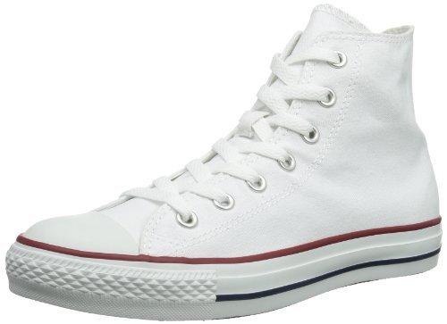 Converse Mens All Star Hi Top Chuck Taylor Chucks Sneaker Trainer - Optical White - 9.5