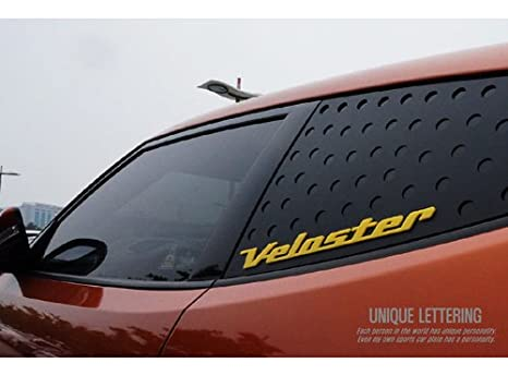 Amazon.com: exLED Rear Window Glass Lettering Sports Plate Panel Ver.2 C Pillar 1-pc For 2011-2017 Hyundai Veloster & Veloster turbo(Yellow): Automotive