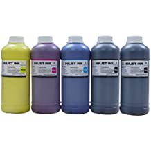 ND Brand 5 Pint Pigment Refill ink (PK/C/M/Y/MK) for SureColor T-Series T3000 T5000 T7000 Printers.