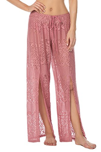 304aa70931 ISABELLA ROSE Women's About Lace Lace Split Leg Pants Swim Cover Up ...