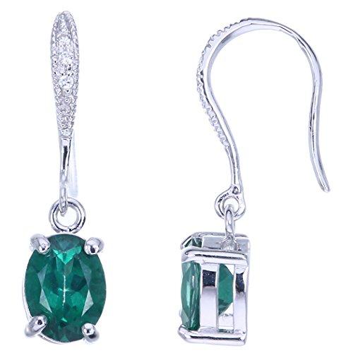 Sterling Silver Green Topaz Earrings (1.30 CT)