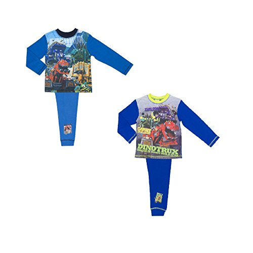 2 Pack Dreamworks Dinotrux Boys Pyjamas Size 4-10 Years
