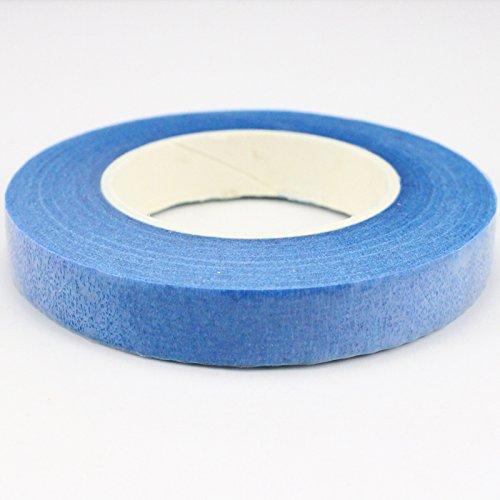 Blue Florists - 30 yards/roll 1.1cm(1/2'') Wide Paper Floral Tapes Bouquet Stem Wrap florist Accessories (Blue)