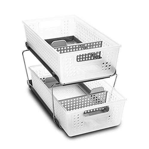 madesmart 2-Tier Organizer with Dividers Slide-Out Baskets with Handles, Space Saving, Multi-Purpose Storage & BPA-Free…