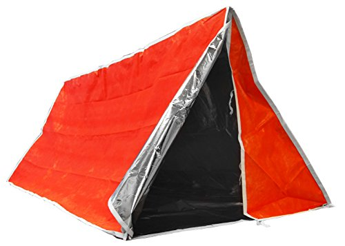SE ET3683 Emergency Outdoor Tube Tent with Steel Tent Pegs (Survival Tent Tube)