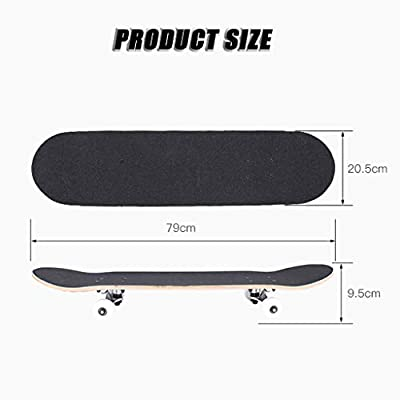 SHIJING Kids Skateboard Cruiser Skateboard Longboard Easy to Navigate Brush Street Skateboards for Beginners and Professionals Adults, Teens: Home & Kitchen
