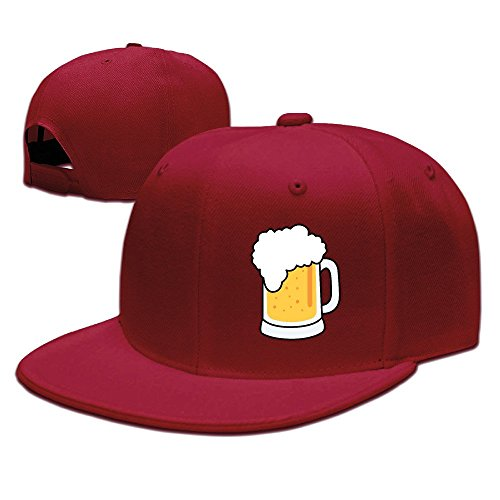xssyz-i-love-beer-flat-bill-snapback-baseball-cap-red
