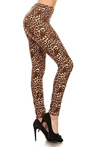 Cheetah Printed (Leggings Depot Women's Fall/Winter Ultra Soft Popular Best Christmas Printed Holiday Fashion Leggings Bat (Cheetah Runway, One Size (Size 0-12)))