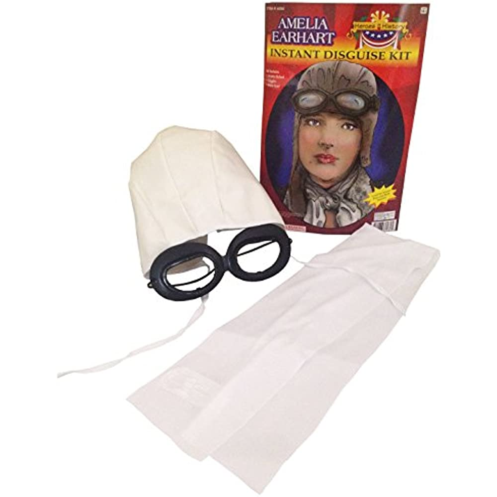 Aviator Pilot with Hat Goggles and Scarf Costume Kit