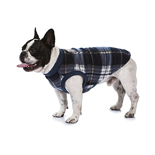 HamishMcBeth Warm Winter Pajamas for Dogs – Exclusive Flannel Plaid Design – Comfortable, Soft Fleece Dog Sweater – for…