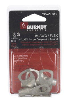 Pk/6: Burndy Heavy Duty Ring Tongue Terminal (yav4cl5rk) by Framatome Connectors Can.